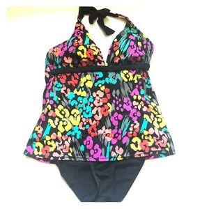 Tropical Escape one piece swimsuit bathing suit